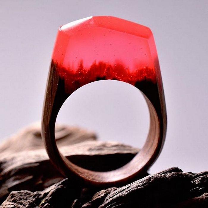 Стильные природные кольца Secret Wood