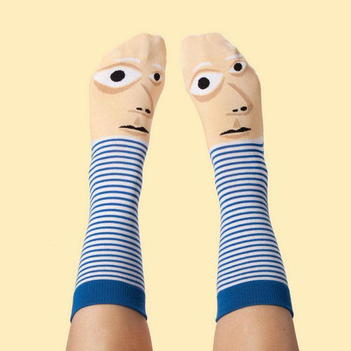 Chatty Feet: носки с лицами знаменитых художников