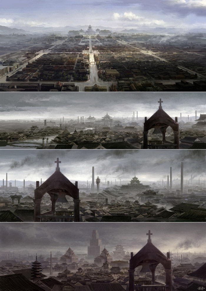 Цифровые картины Tianhua Xu