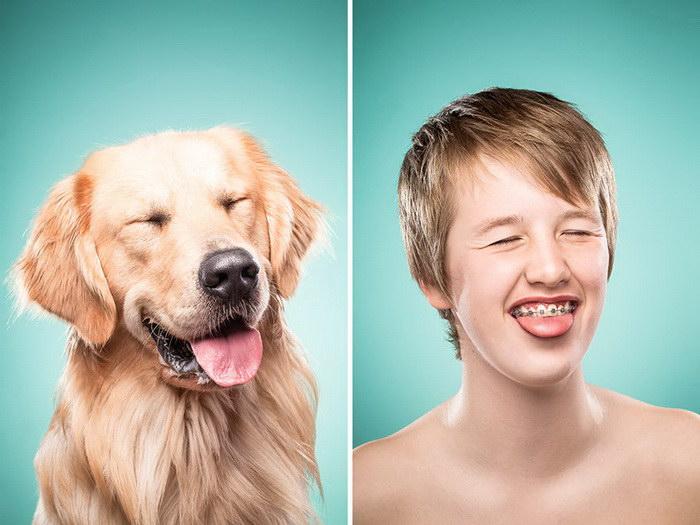 Собаки и их хозяева в фотопроекте Ines Opifanti