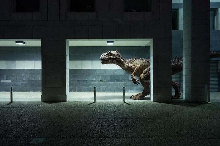 Парижский Дефанс и его динозавры: работы Benoit Lapray