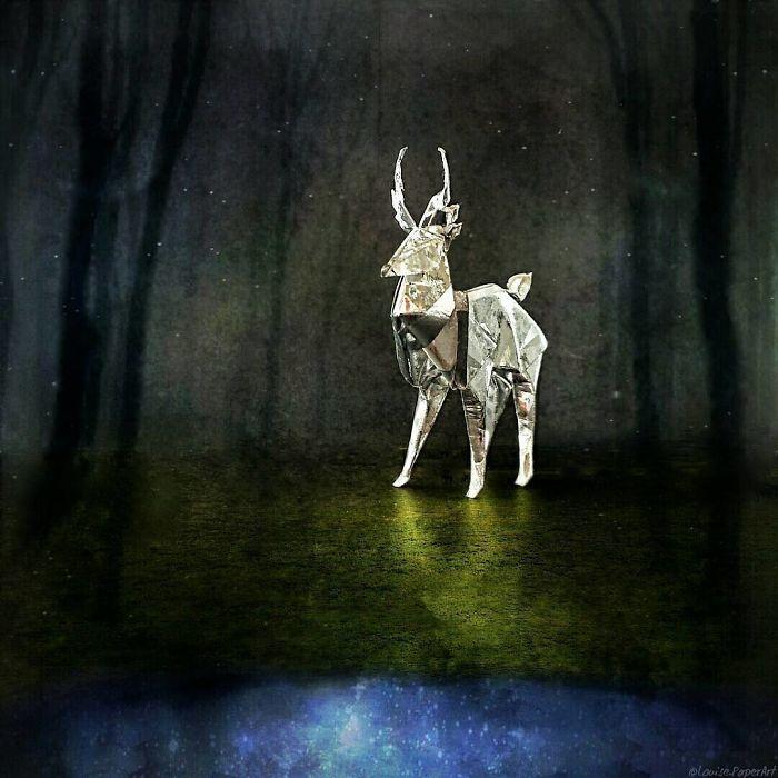 Оригами на тему Хэллоуина: творения Louise Cassidy